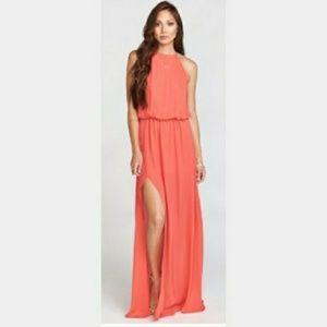 Show Me Your MuMu Heather Halter Dress in Hibiscus